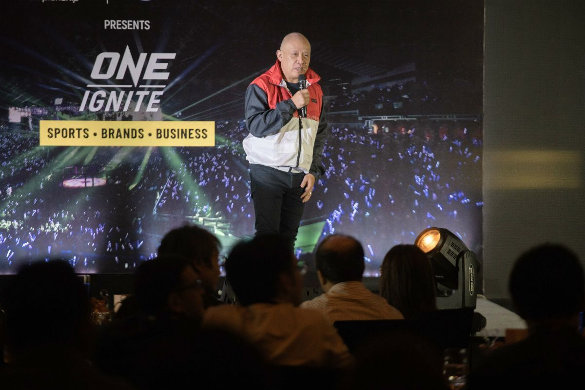 Globe President and CEO Ernest Cu speaks at ONE:IGNITE in Manila, Philippines