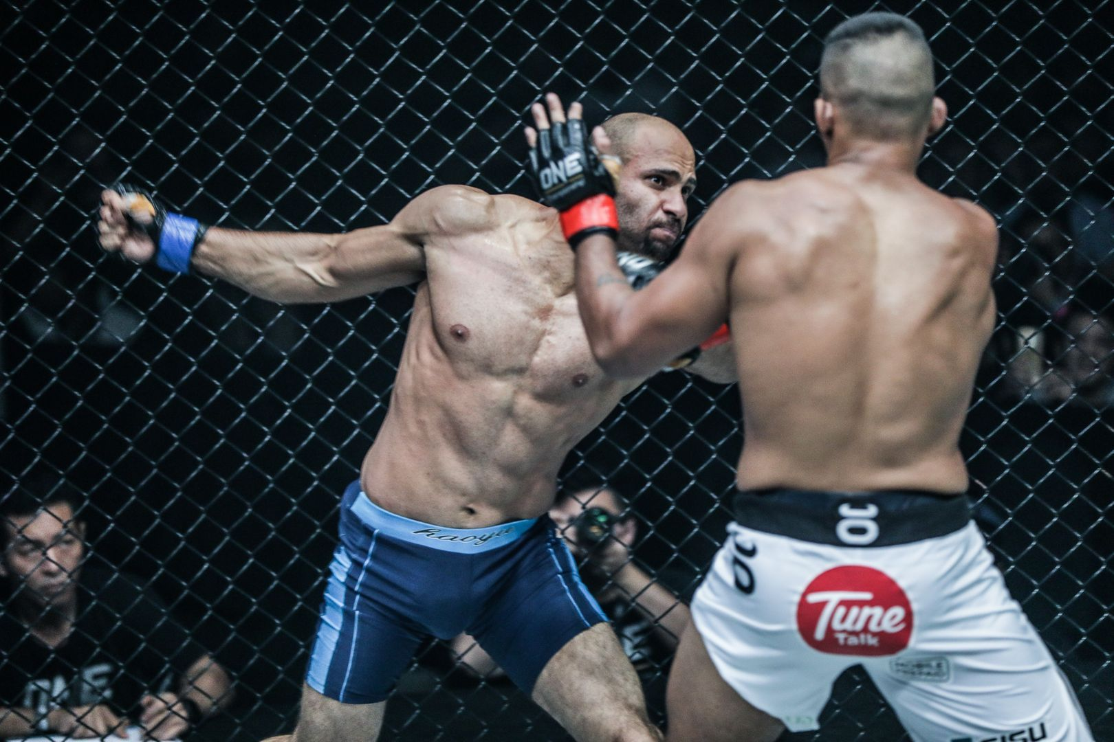 Egyptian mixed martial artist Sherif Mohamed in action in ONE Championship