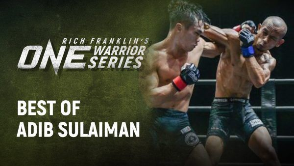 Adib Sulaiman shows off his improved striking on Rich Franklin's ONE Warrior Series.