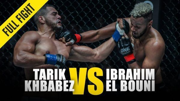 Tarik Khbabez connects with an uppercut on Ibrahim El Bouni at ONE: PURSUIT OF GREATNESS.