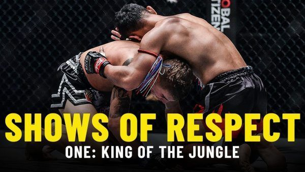 Sam-A Gaiyanghadao and Rocky Ogden show respect after their title tilt at ONE: KING OF THE JUNGLE.