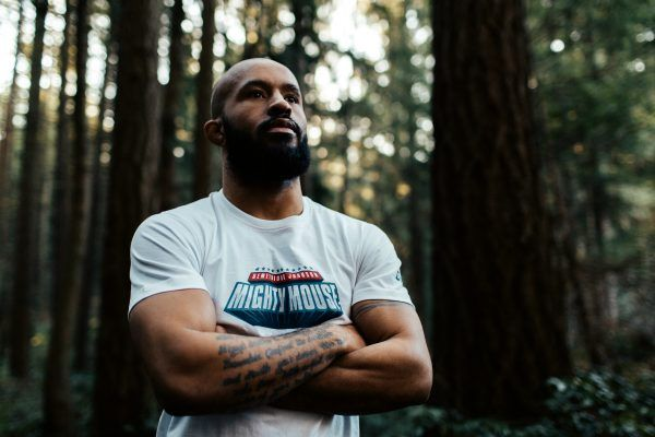 Demetrious Johnson models his new shirt from the ONE.Shop!