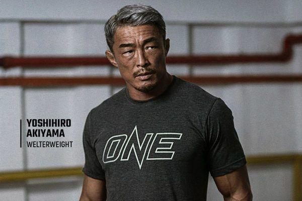 Yoshihiro Akiyama models a shot from ONE's new online store!