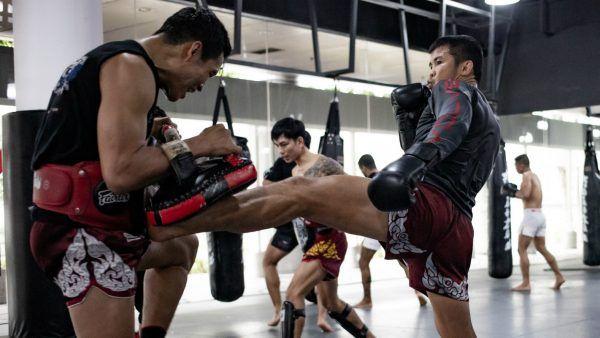 Nong-O Gaiyanghadao trains at Evolve MMA