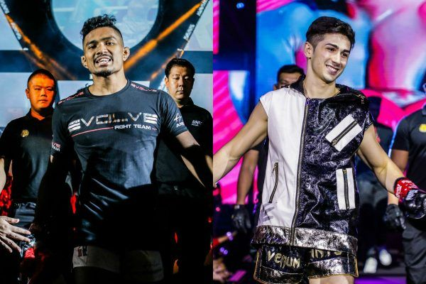 split screen of amir khan and victor pinto