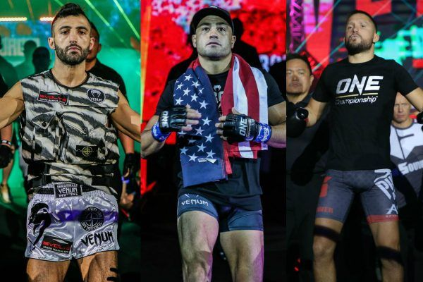 ONE Championship superstars Giorgio Petrosyan, Eddie Alvarez, and Andy Souwer