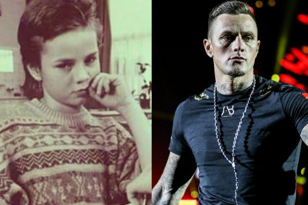 "Lightweight kickboxing legend Nieky ""The Natural"" Holzken, as a child and an adult"