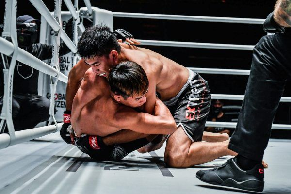 Philippine mixed martial artist Drex Zamboanga hits a takedown