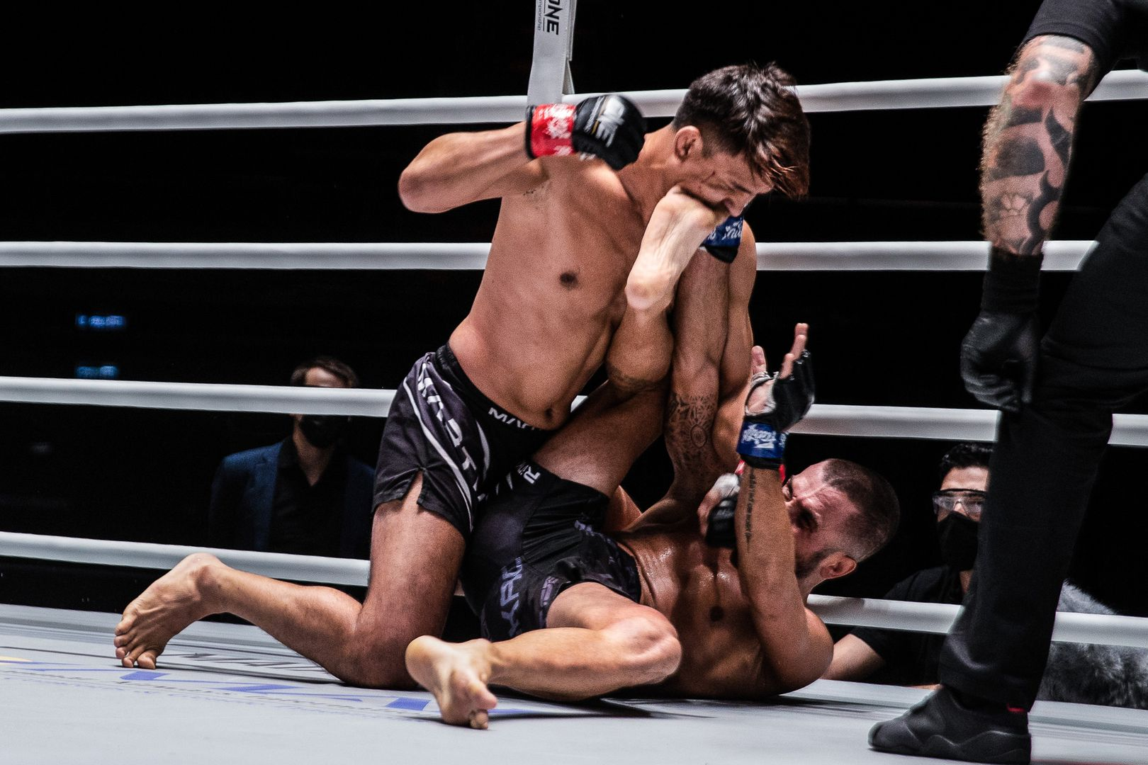 Thai mixed martial artist Shannon Wiratchai throws his ground and pound