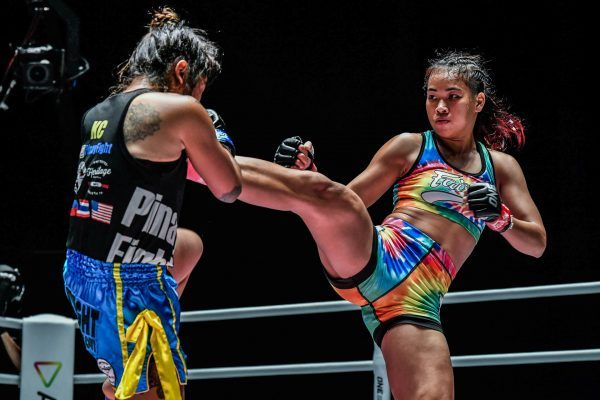 Muay Thai star Wondergirl Fairtex kicks KC Carlos