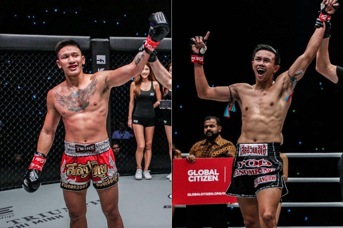 Muay Thai World Champions Bangpleenoi Petchyindee Academy and Yodpanomrung Jitmuangnon