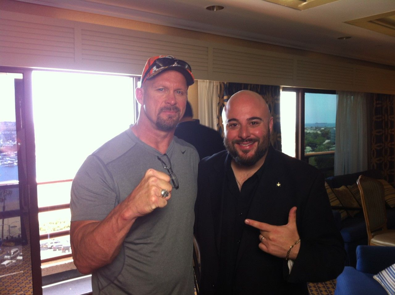 Michael Schiavello with Stone Cold Steve Austin