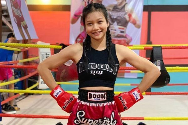 Supergirl Jaroonsak Muaythai at the gym