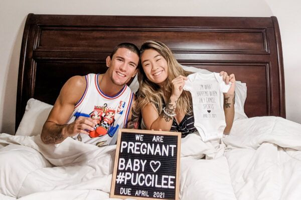 Bruno Pucci and Angela Lee announce she is expecting in April 2021