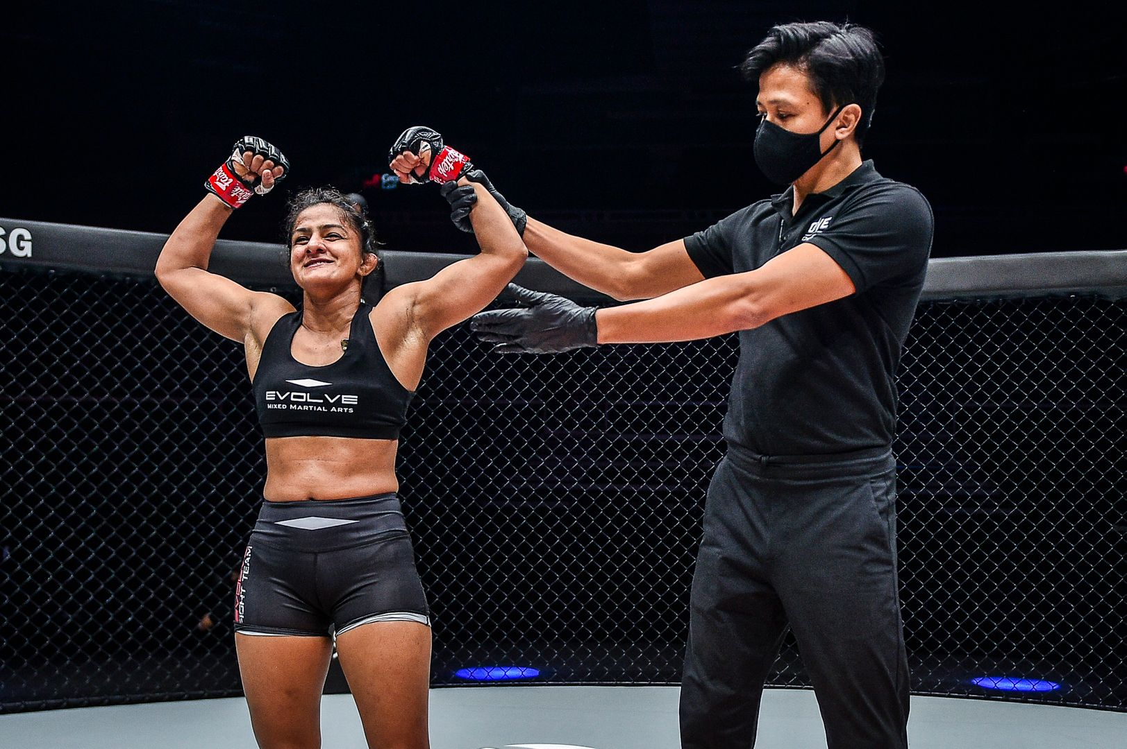 Ritu Phogat fights Nou Srey Pov in a mixed martial arts battle at ONE: INSIDE THE MATRIX on Friday, 30 October