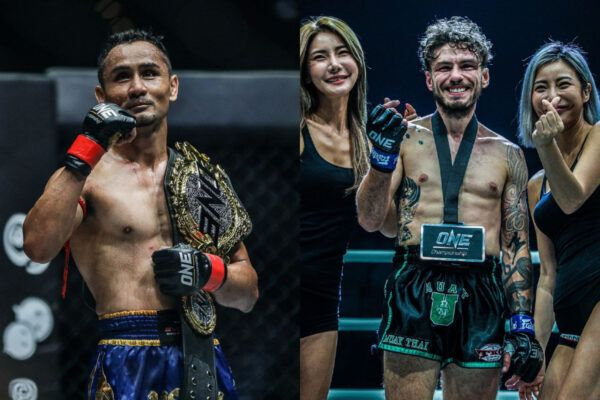 ONE Strawweight Muay Thai World Champion Sam-A Gaiyanghadao and his challenger, Josh Tonna