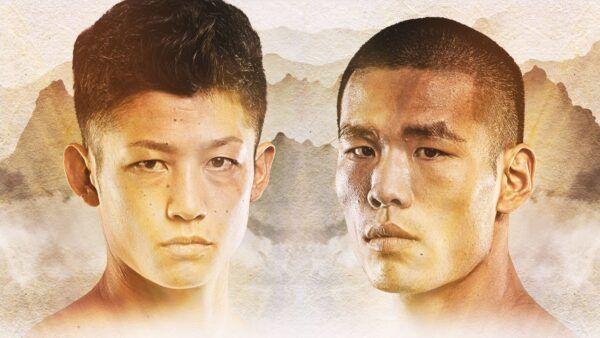 Kickboxers Hiroki Akimoto and Zhang Chenglong
