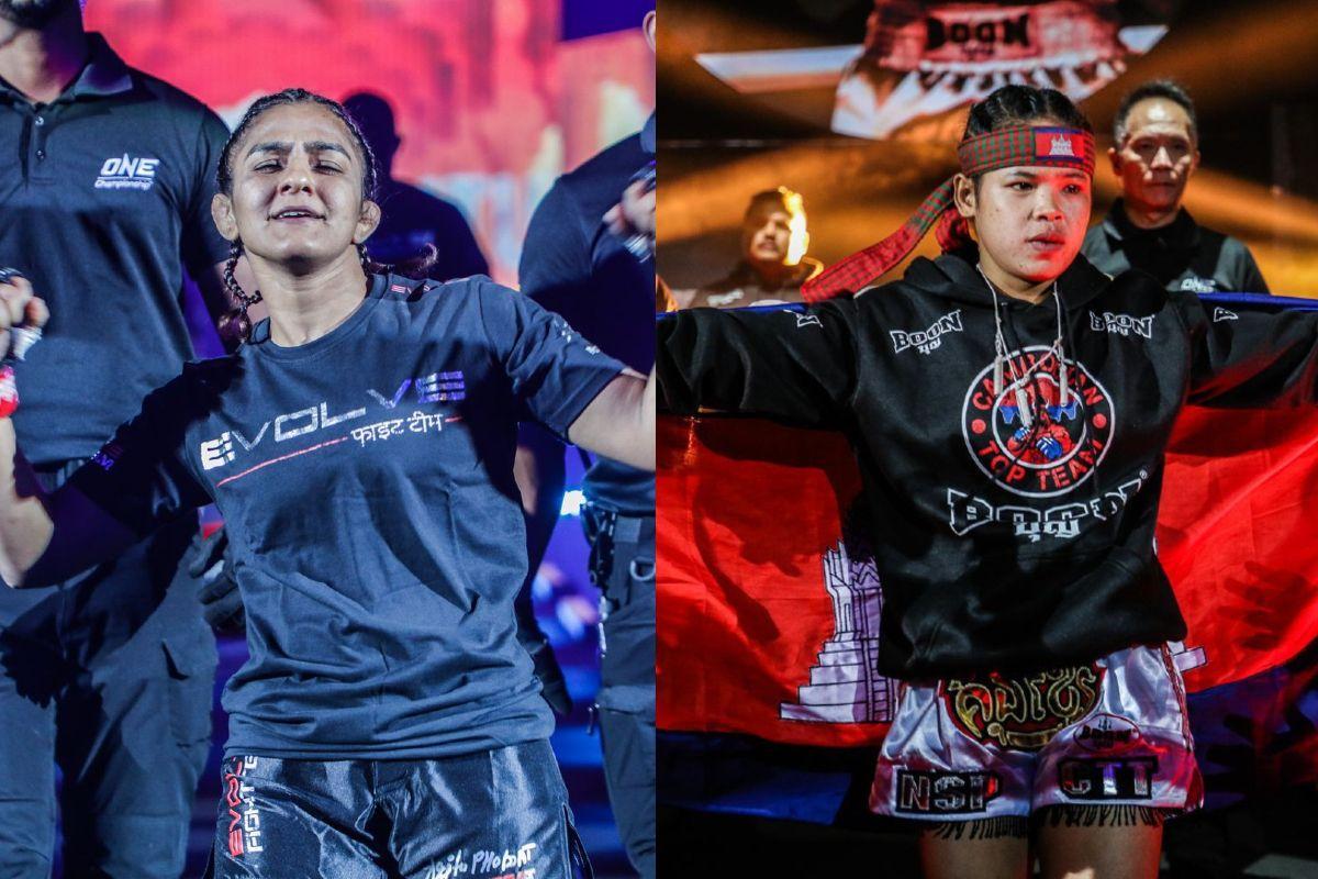 Mixed martial artists Ritu Phogat and Nou Srey Pov