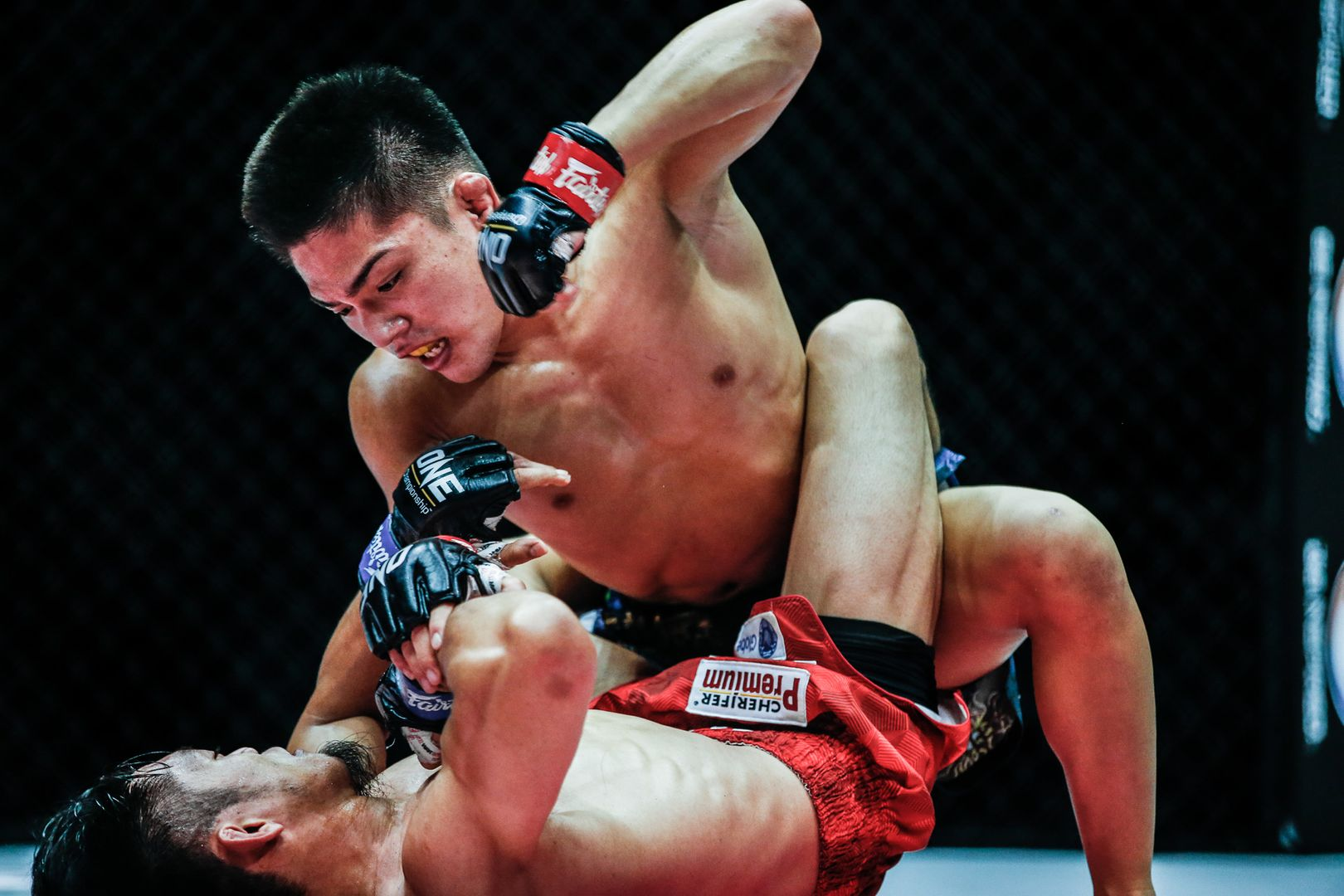 Japanese MMA fighter Hiroba Minowa squares off against Filipino MMA fighter Lito Adiwang at ONE: INSIDE THE MATRIX III