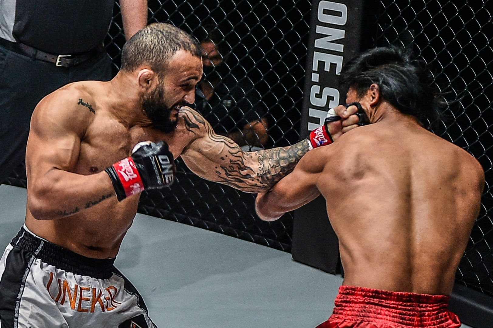 MMA fighter John Lineker squares off against Kevin Belingon in the main event of ONE: INSIDE THE MATRIX III
