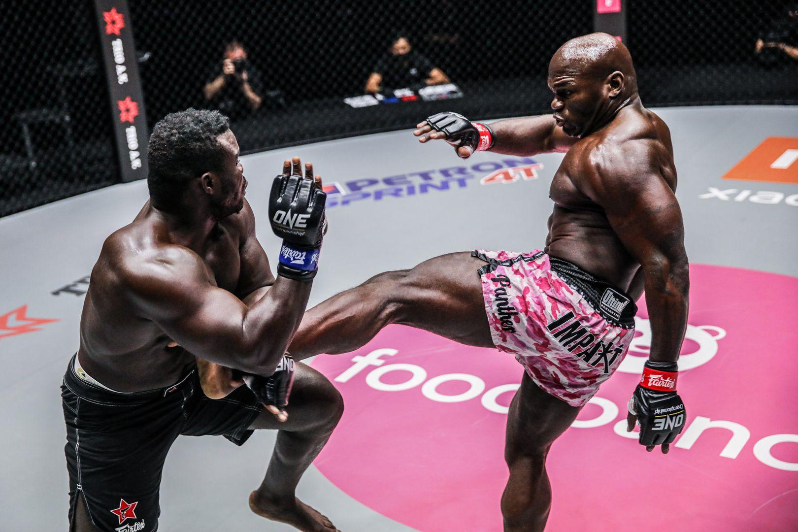 "MMA heavyweight stars ""Reug Reug"" Oumar Kane and Alain Ngalani fight at ONE: UNBREAKABLE II"