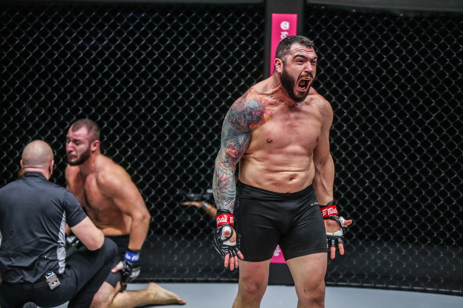 MMA heavyweight fighters Mauro Cerilli and Abdulbasir Vagabov compete at ONE: UNBREAKABLE II in January 2021