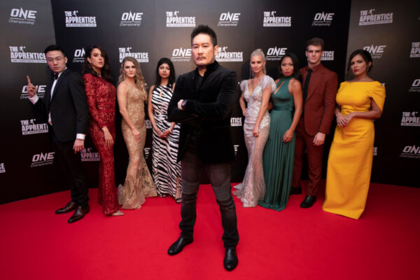 "Chatri Sityodtong with the 16 global candidates of ""The Apprentice: ONE Championship Edition"""