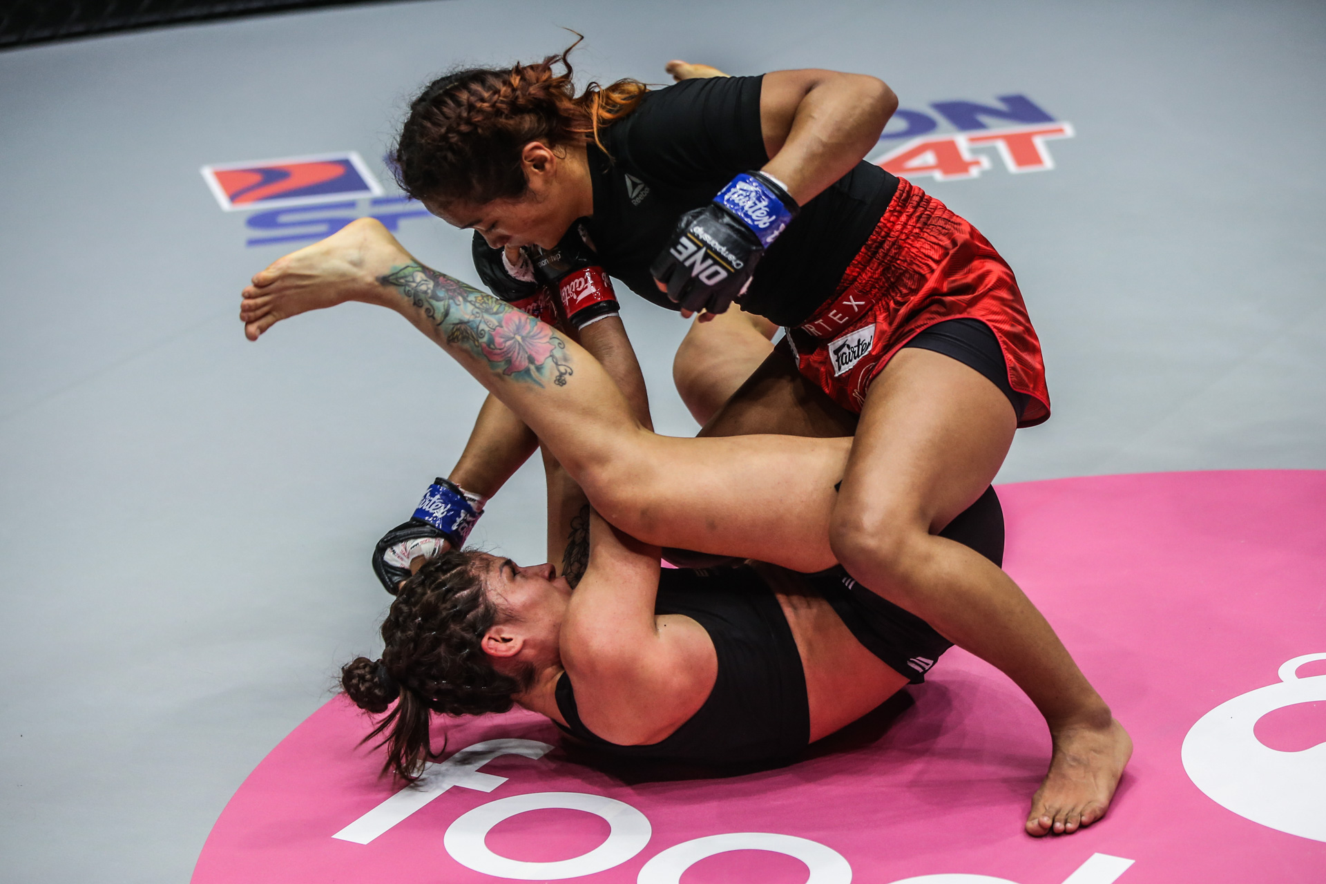 MMA fighters Jenelyn Olsim and Maira Mazar throw down at ONE: FISTS OF FURY III