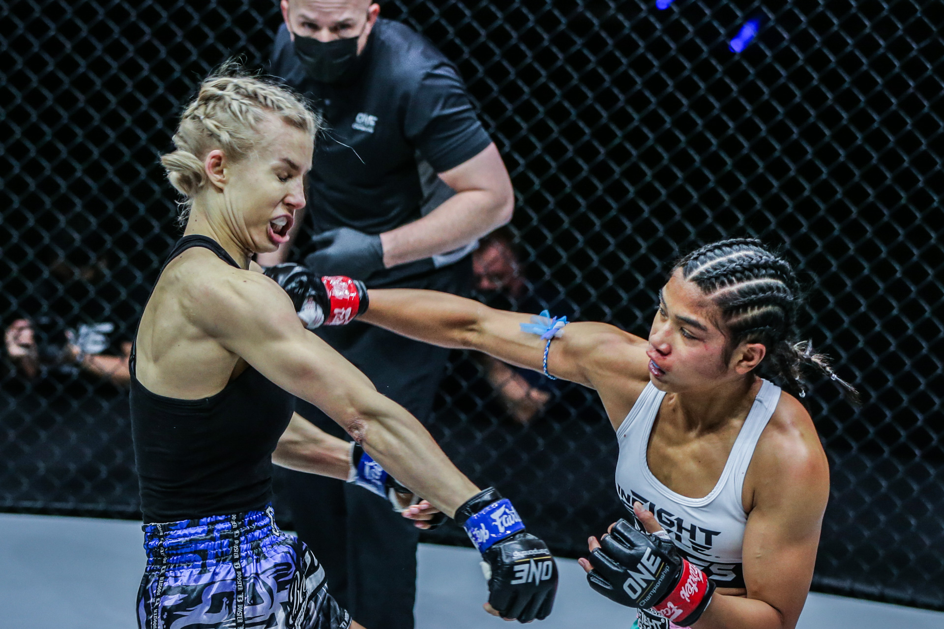 """Pictures from the ONE Super Series Muay Thai fight between Jackie Buntan Ekaterina Vandaryeva at """"ONE on TNT IV"""""""