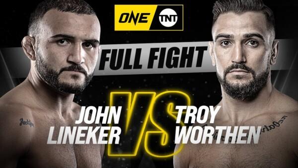 """Scenes from John Lineker versus Troy Worthen at """"ONE on TNT III"""""""