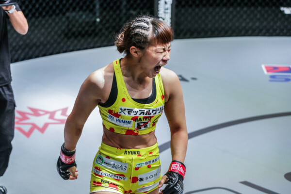 Scenes from the MMA catchweight fight between Ayaka Miura and Rayane Bastos at ONE: DANGAL on 15 May