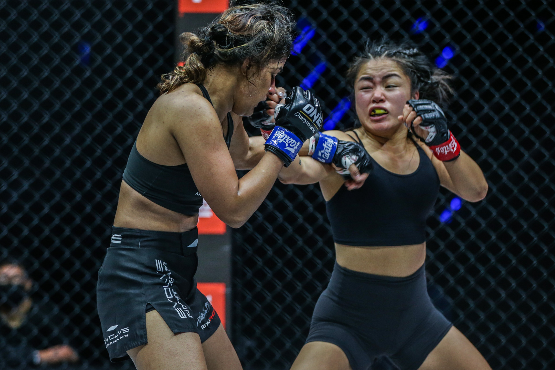 Scenes from the atomweight bout between MMA stars Ritu Phogat and Bi Nguyen at ONE: DANGAL on 15 May