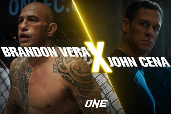 ONE Heavyweight World Champion Brandon Vera talks with WWE Champion John Cena