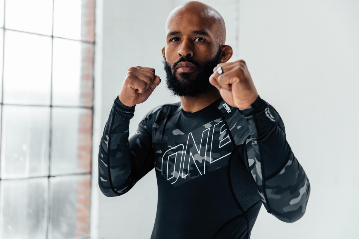 MMA fighter Demetrious Johnson poses in HyperFly gear