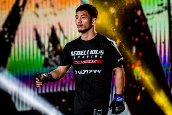 Japanese MMA fighter Yuya Wakamatsu makes his entrance