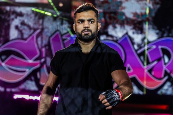 MMA fighter Gurdarshan Mangat enters the Singapore Indoor Stadium