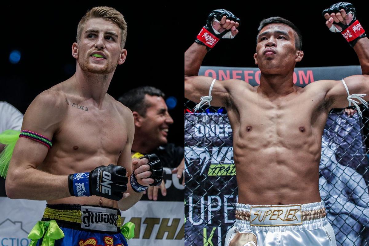 Muay Thai fighters Jonathan Haggerty and Superlek Kiatmoo9