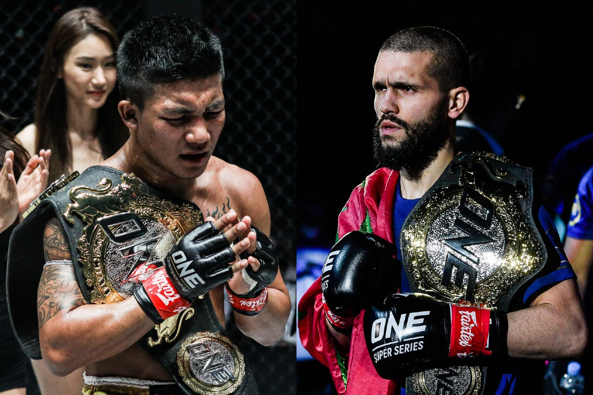 ONE Super Series Flyweight World Champions Rodtang Jitmuangnon and Ilias Ennahachi