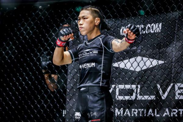 Xinog Jing Nan gets ready to defend her ONE Championship belt