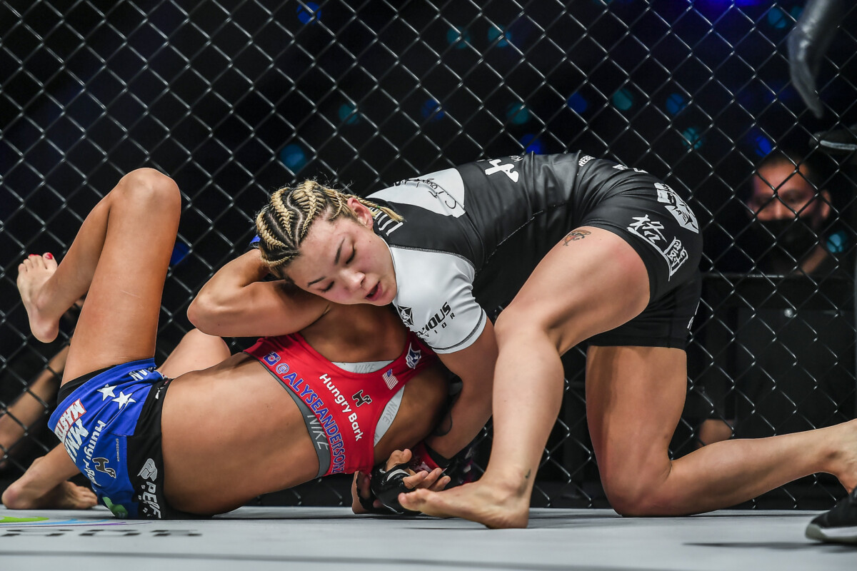 Pictures from the bout between Itsuki Hirata and Alyse Anderson at ONE: EMPOWER