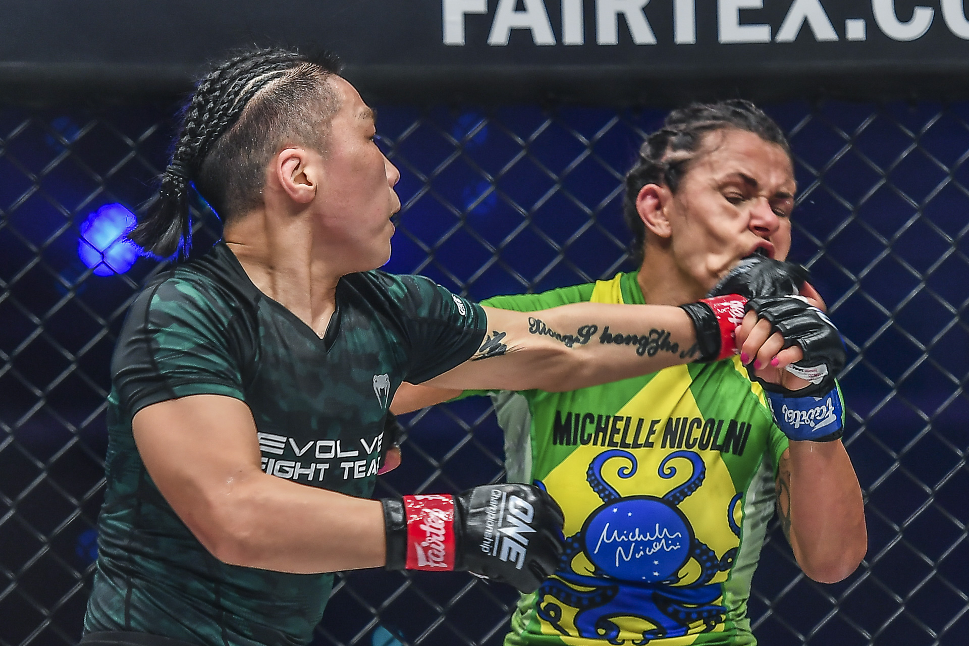 Pictures from the World Title fight between Xiong Jing Nan and Michelle Nicolini at ONE: EMPOWER