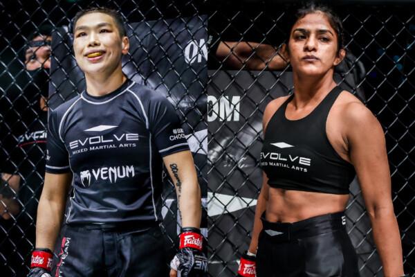 Evolve MMA's Xiong Jing Nan and Ritu Phogat