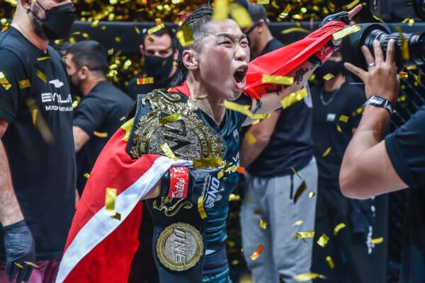 Xiong Jing Nan following her fifth ONE Women's Strawweight World Title defense