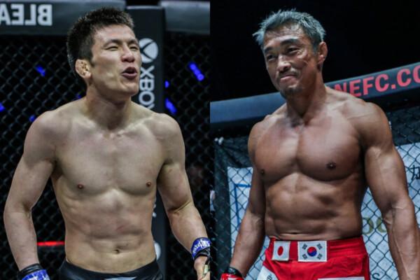 Shinya Aoki confronts Yoshihiro Akiyama