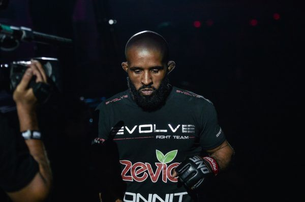 American martial arts star Demetrious Johnson gets ready for his ONE Flyweight World Grand Prix semifinal bout