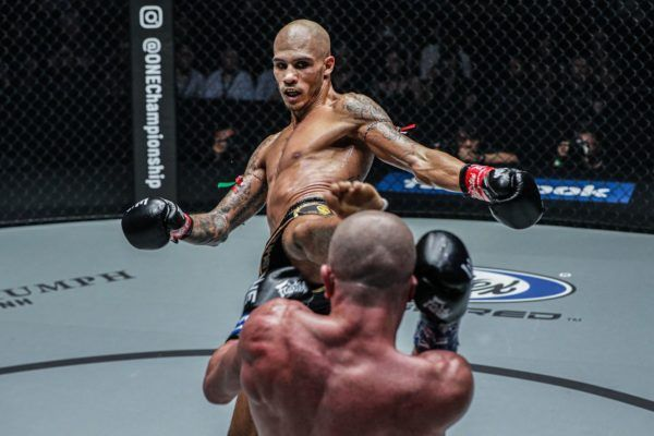Samy Sana defeats Dzhabar Askerov in the ONE Featherweight Kickboxing World Grand Prix semifinals