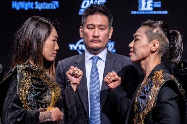 Angela Lee will defend her belt against Xiong Jing Nan in the ONE: CENTURY PART I main event
