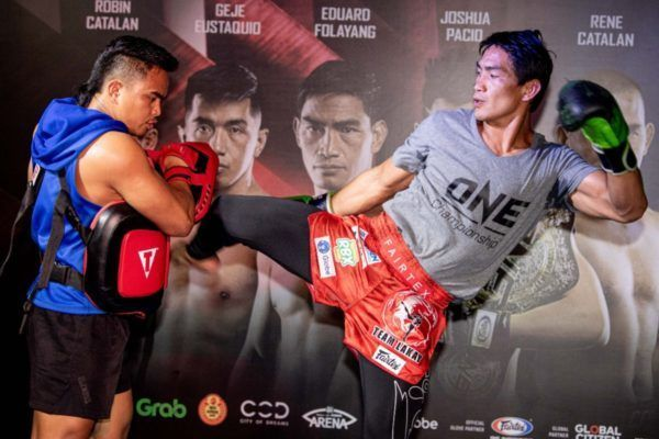 "Eduard ""Landslide"" Folayang ONE: MASTERS OF FATE open Workout"