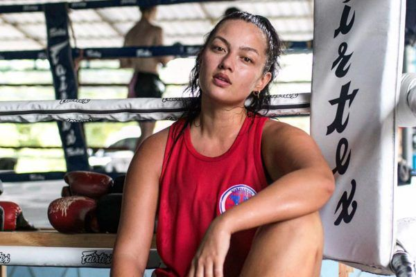 Supermodel Mia Kang trains at Fairtex