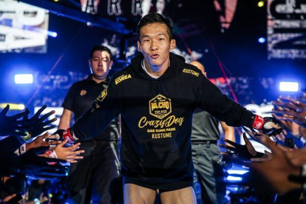 South Korean MMA fighter Dae Sung Park walks to the cage